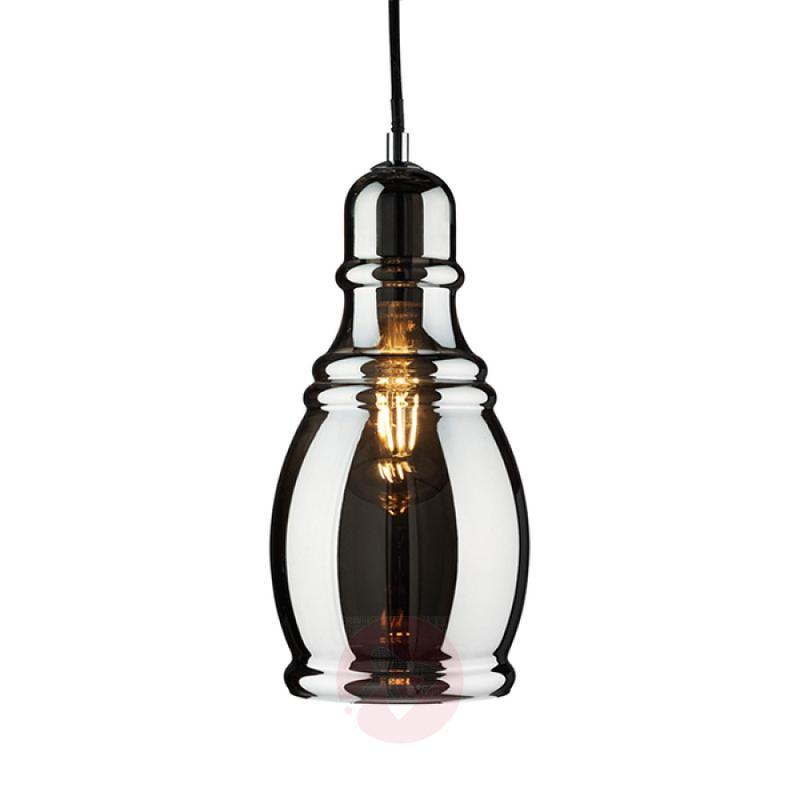 Vintage-style Olsson hanging light in black - indoor-lighting