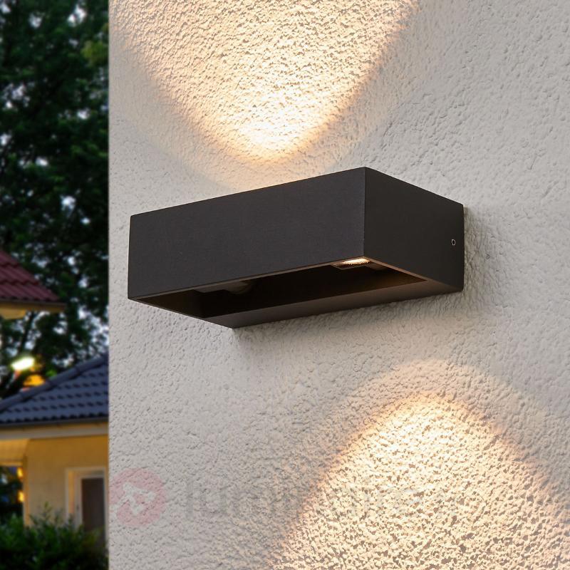 Applique murale LED Katinka carrée d'extérieur - Appliques d'extérieur LED