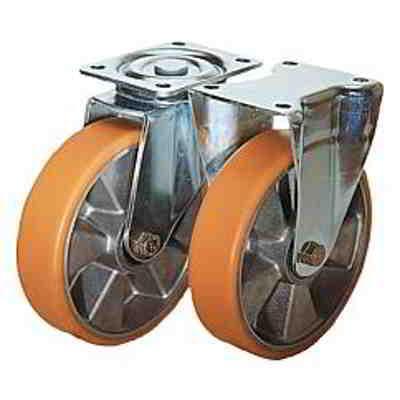 Roulette pivotante ou fixe modèle mi-lourd - Roues et galets