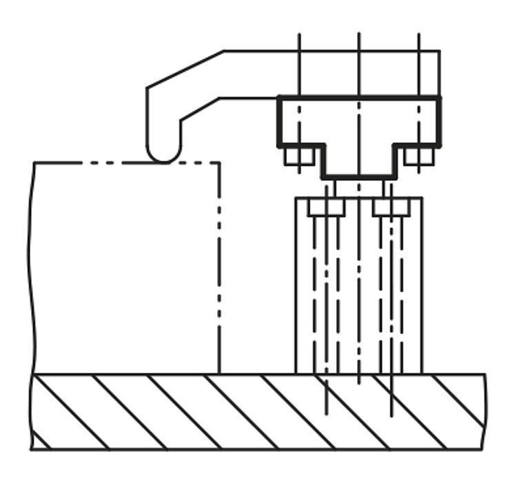 Adaptateur pour vérin de bridage pivotant - Sauterelles pneumatiques
