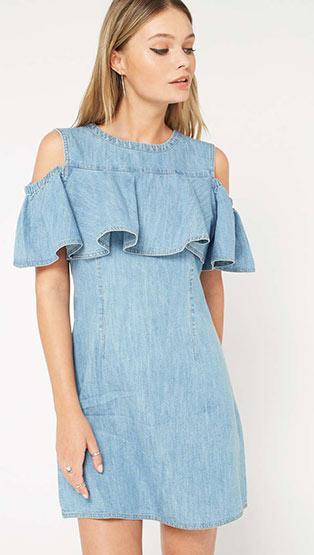 Denim Dress - 100% cotton denim dress
