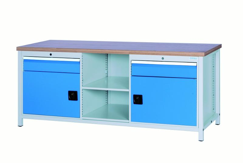 Workbench 2000 with 2 drawers and 2 hinged doors - 03.20.01VA