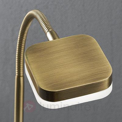 Lampe à poser LED flexible Tobias laiton vieilli - Lampes de bureau LED