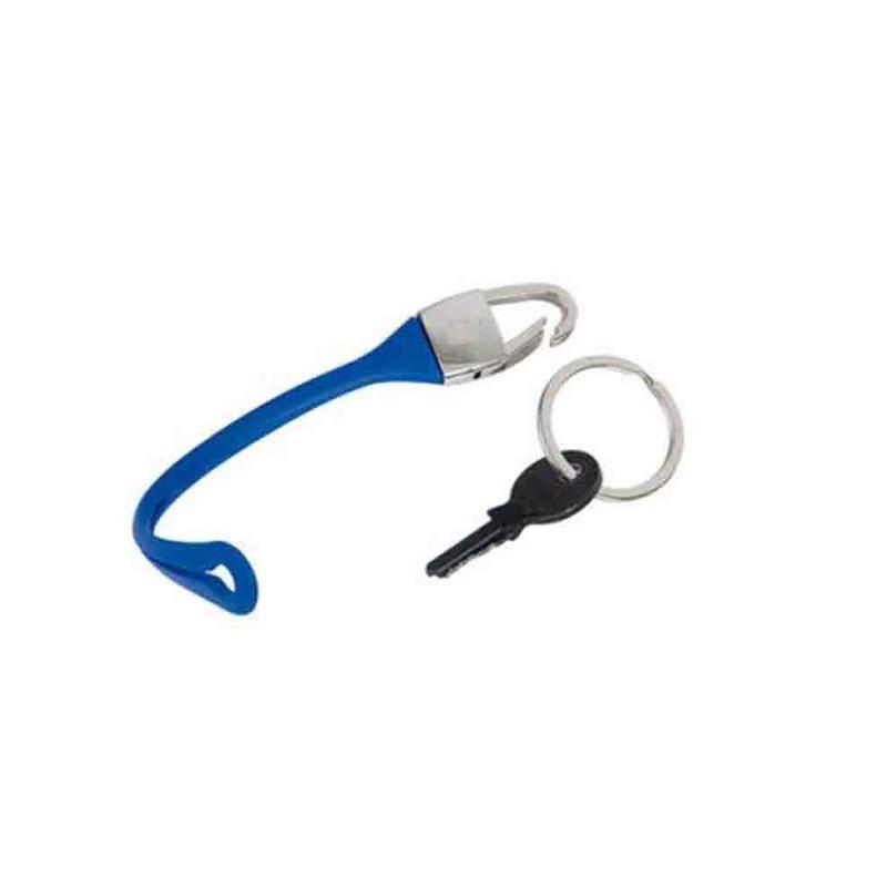 Porte-clés ceinture métal/bleu - Porte-clés métal