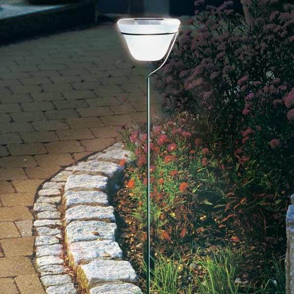 Lampe solaire à planter dans le sol, inox - Toutes les lampes solaires