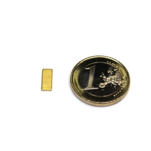 Block magnet, Neodymium, 10x4x1,2mm, N50, Ni-Cu-Au,... - null