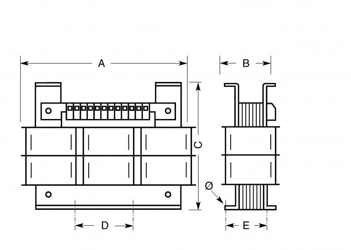 Dreiphasen Transformatoren - SPT1000/D