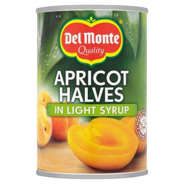 canned apricot halves in light syrup -