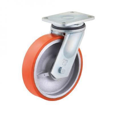 Polyurethan Schwerlastrollen bis 2.100 kg - PUZG Radserie in HB Gehäuse, schwere Stahlschweißkonstruktion, verzinkt