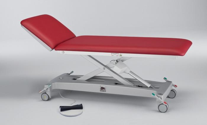 varimed® Height adjustable examination and treatment couches - choice of hydraulic or electric adjustment