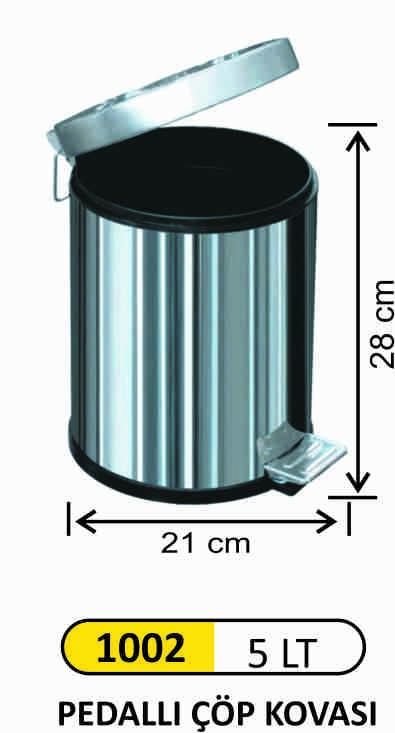 5 LT STAINLESS STEEL PEDAL BIN