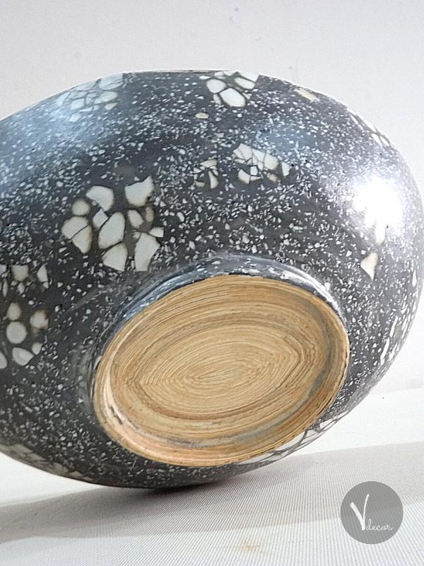 Ellipse Black and White Spun Bamboo Bowl - Shop