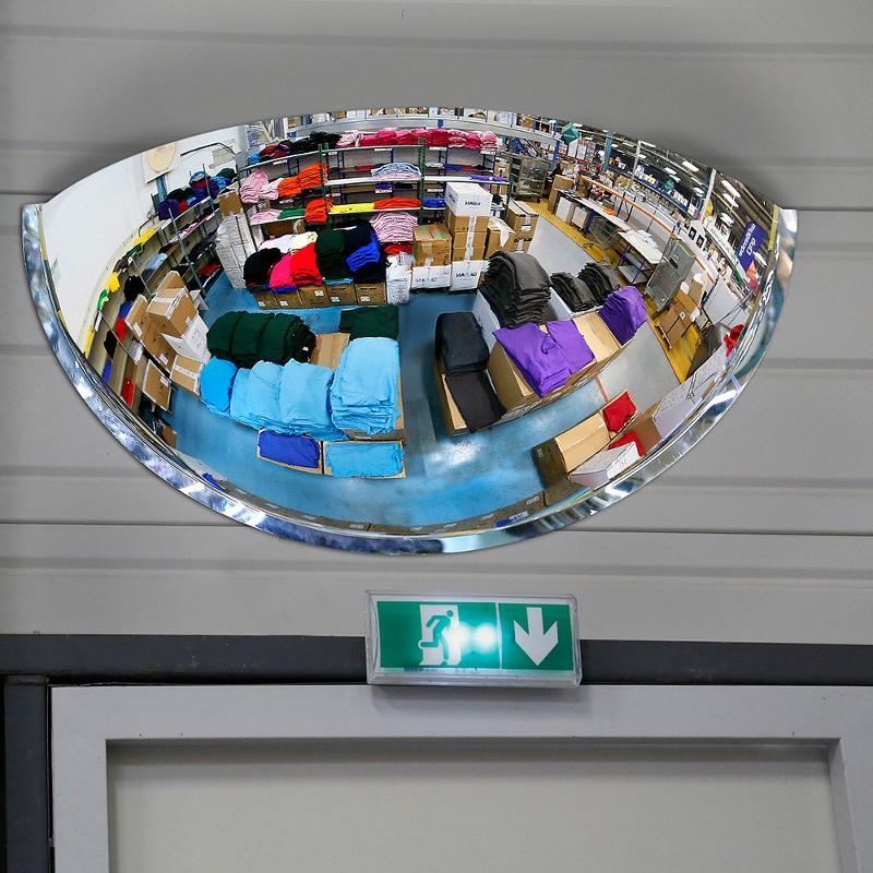 Miroir hémisphérique d'intérieur 180° Plexi+ - Mobilier urbain