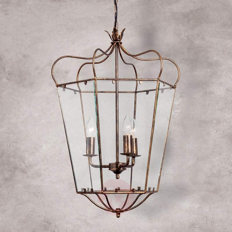 Falotta Hanging Light Rustic Lantern Design - Pendant Lighting