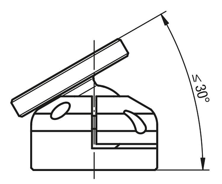 Table inclinable sur rotule inclinaison 30° - Système de positionnement