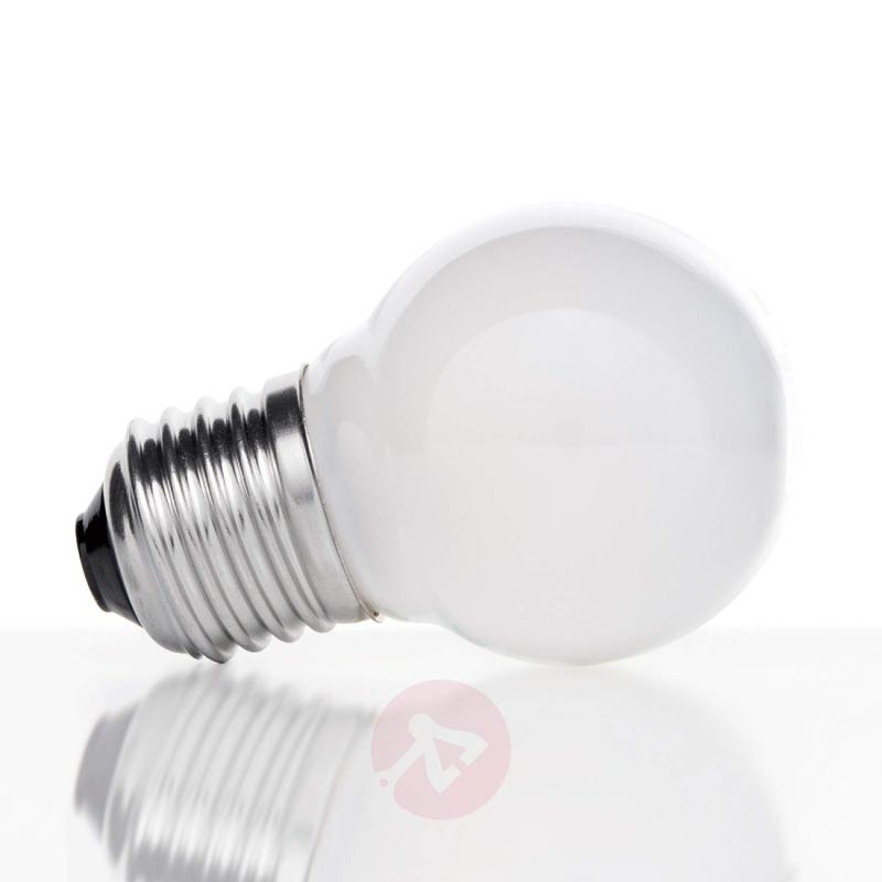 E27 4 W 827 LED golf ball bulb, matt on the inside