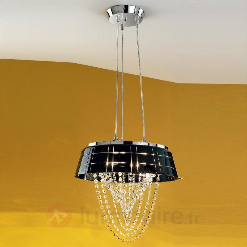 Élégante suspension ROMIA à abat-jour en verre - Suspensions en cristal