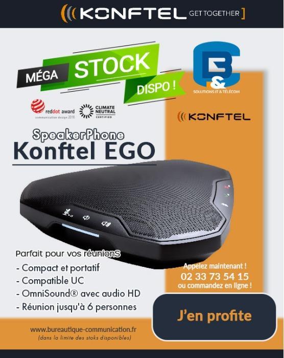 KONFTEL EGO Try and Buy - Poste Audioconférence portable Konftel EGO (USB et Bluetooth)