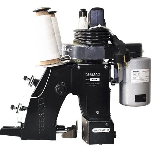 Portable bag closer sewing machine