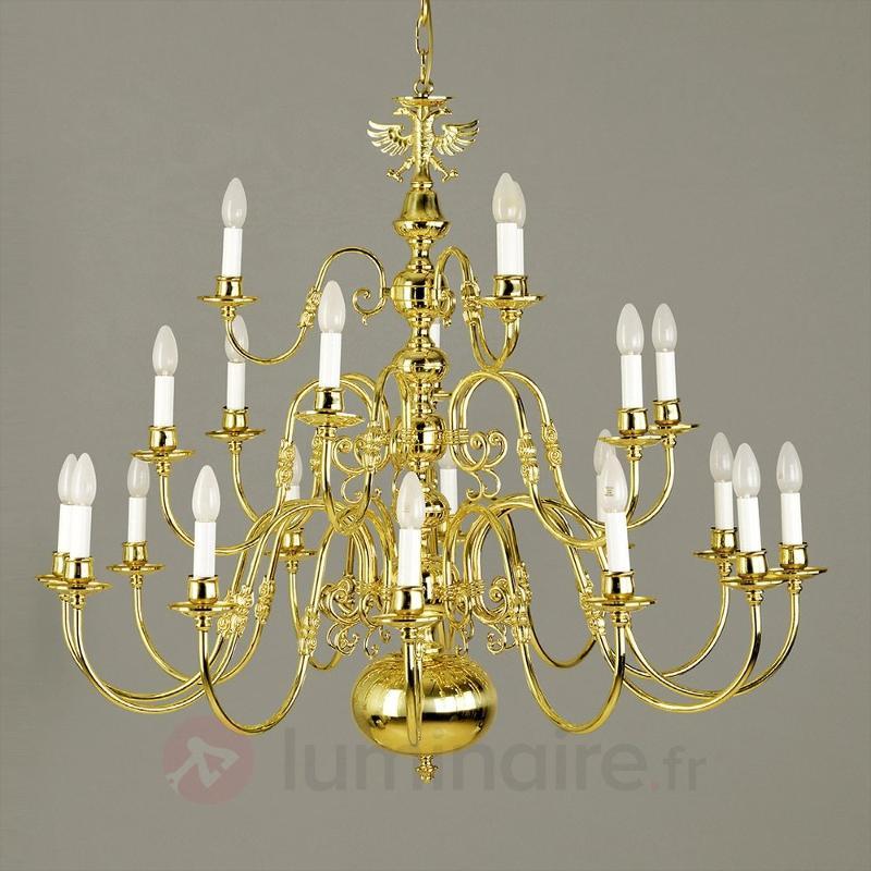 Lustre Maximilian, à 21 ampoules, finition noble - Lustres designs, de style