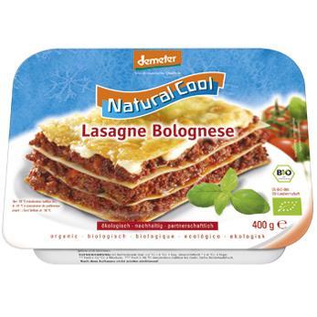 Lasagnes à la bolognaise - Biologiques et surgelées
