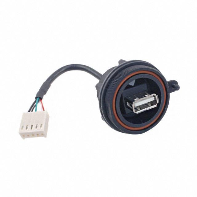 CONN RCPT IP68 USB A PNL - 5POS - Bulgin PX0843/A