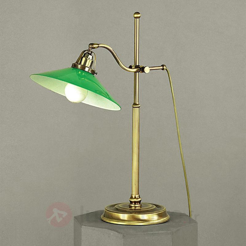 Lampe de bureau verte VERDINA, aspect patine - Lampes de bureau