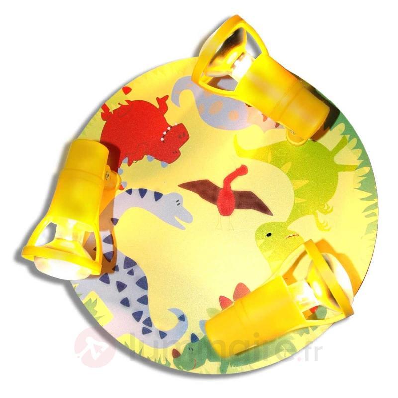 Plafonnier jaune Dinorex à impression multicolore - Chambre d'enfant