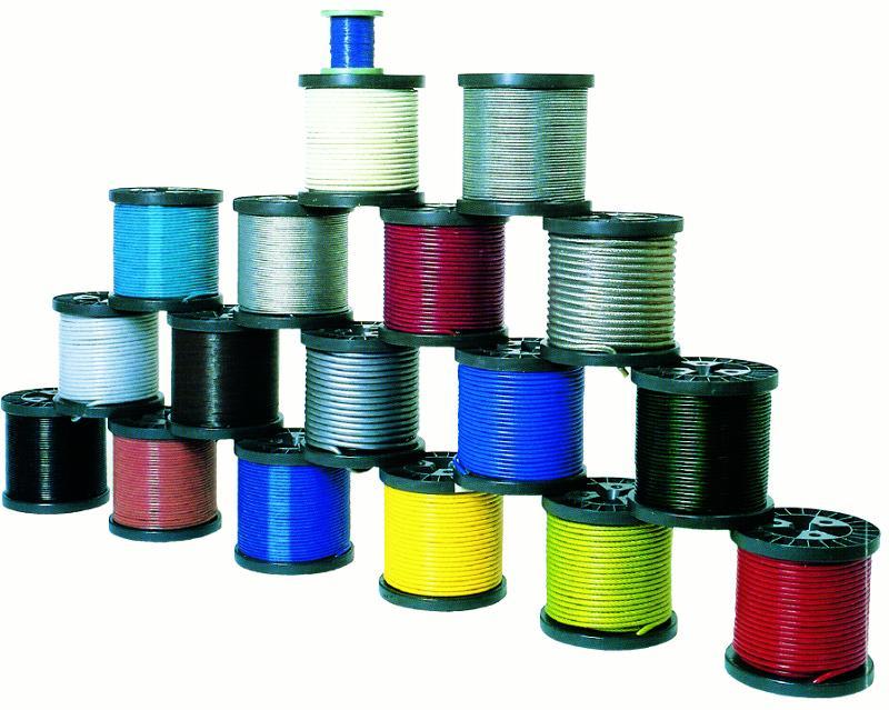 Câbles plastifiés - Câble 6x36WS plastifié
