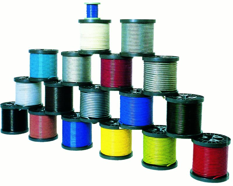 Câbles plastifiés - Câble 7x19 plastifié (PVC ou polyamide)