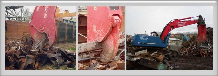 Hydraulic demolition shears - KN hydraulic demolition shears