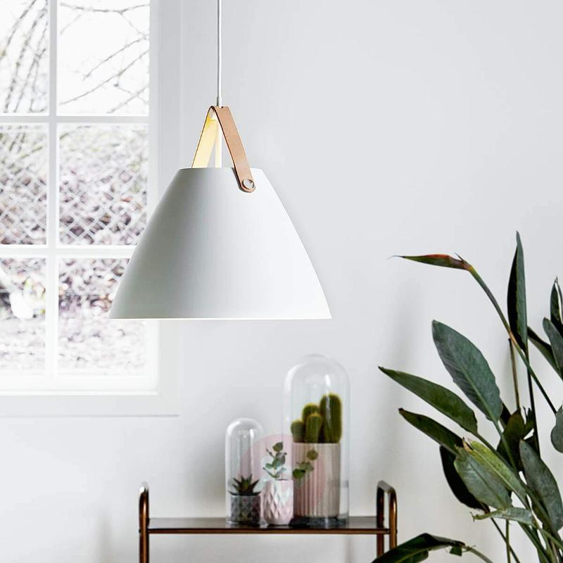 Strap 36 pendant lamp with leather hanger - Pendant Lighting