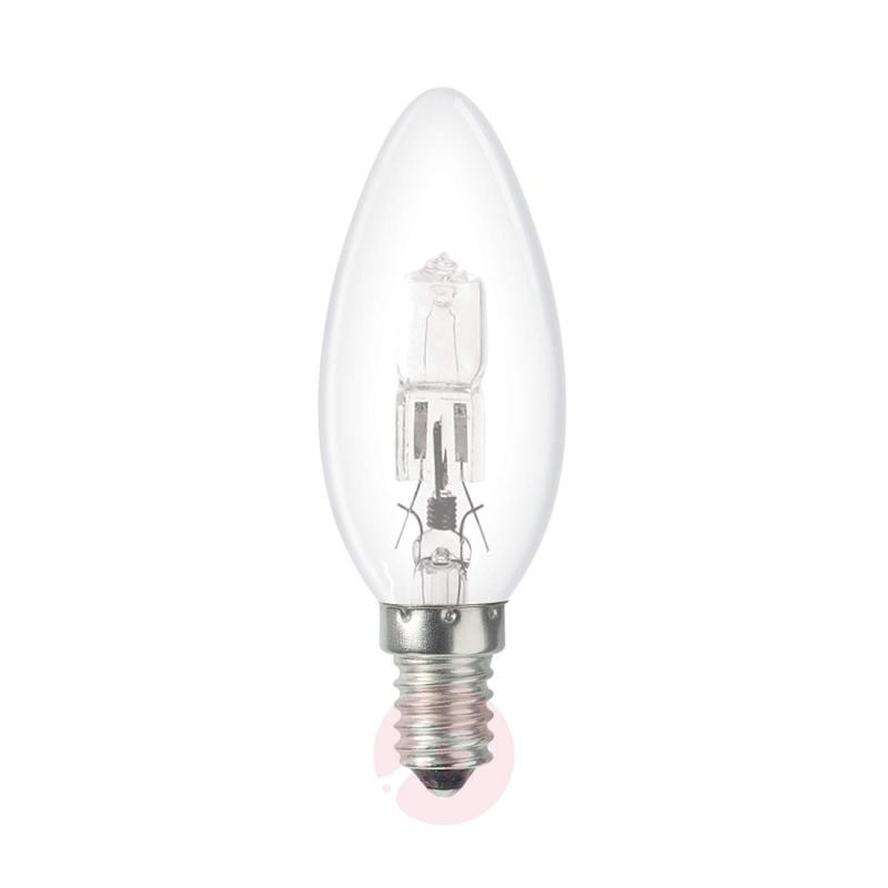 E14 18 W Halogen lamp, candle shape, clear - light-bulbs