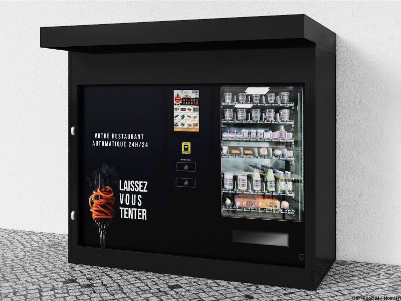 Kiosque blindé pour 1 distributeur FOOD24MAX (Exemple) - null