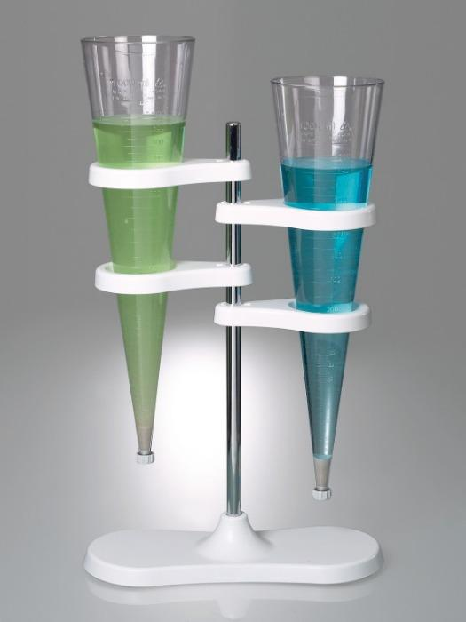 Support d'entonnoir de sédimentation Imhoff - Matériel de laboratoire, avec deux supports pour les entonnoirs de sédimentation