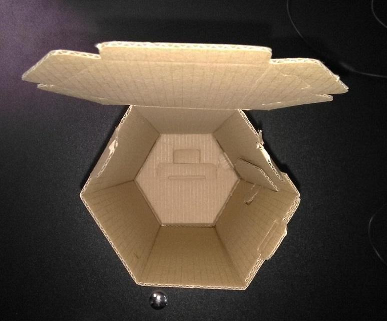 Hexagonal Box - Customizable corrugated box, for storing or packing anything