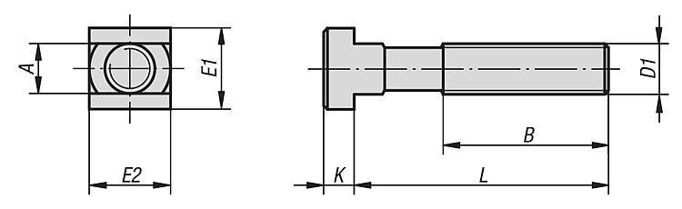 Boulon en T DIN 787, 12.9 - Éléments de liaison