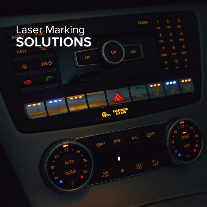 Applications for the automotive industry - Applications for the automotive industry with pad printing and laser marking