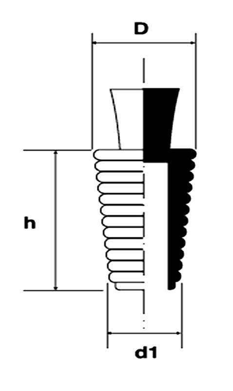 N23-Bouchons coniques striés - Haute Température