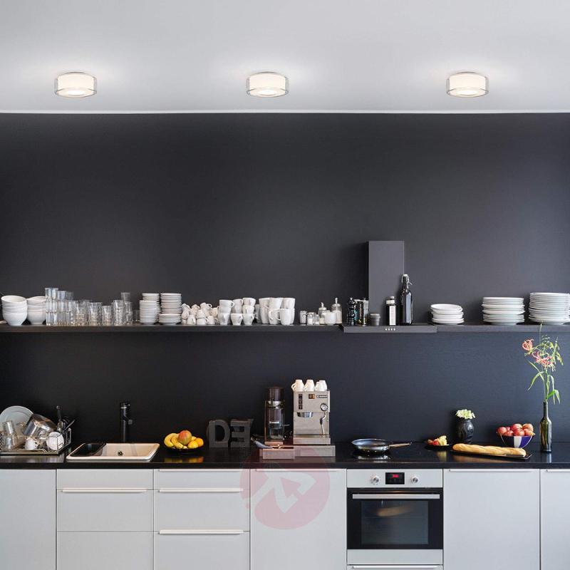 Glazed LED designer ceiling light Curling - design-hotel-lighting
