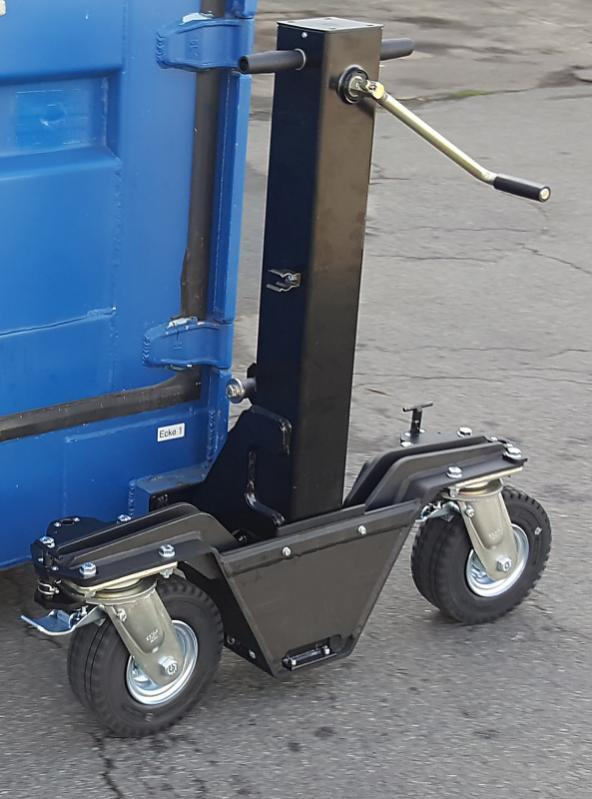 container rolls 4337.3,5 - Container rollers 4337.3,5 with load lift 3,5 tons on solid ground
