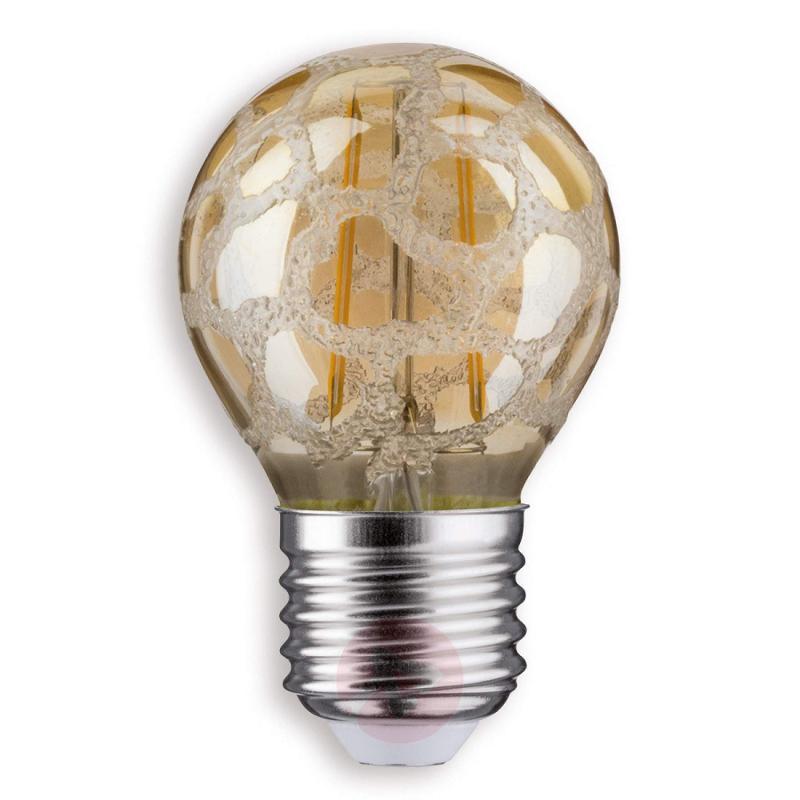 E27 2.5 W 825 LED golf ball bulb Krokoeis gold - light-bulbs