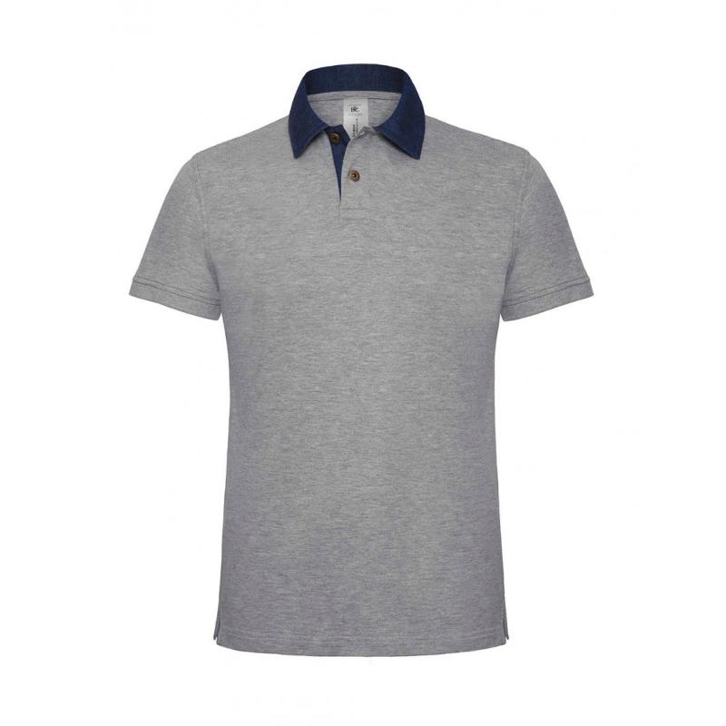 Denim Collar Polo - Manches courtes