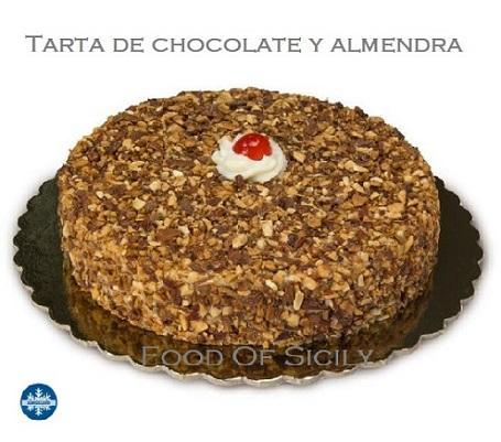 Tarta de chocolate y almendras