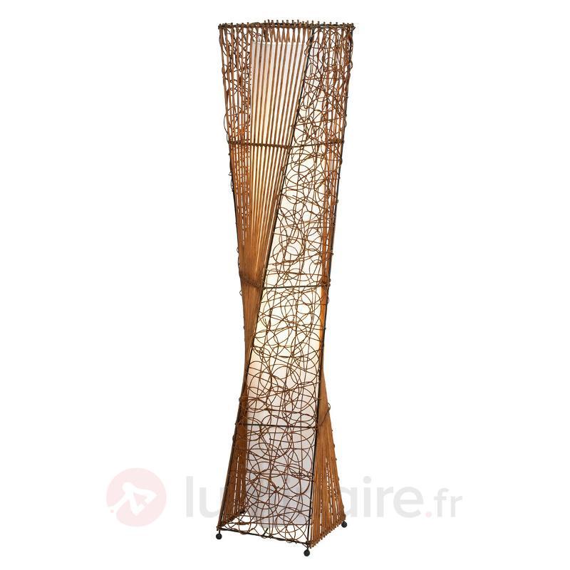 Lampadaire ZIMBO en rotin - Lampadaires en bois