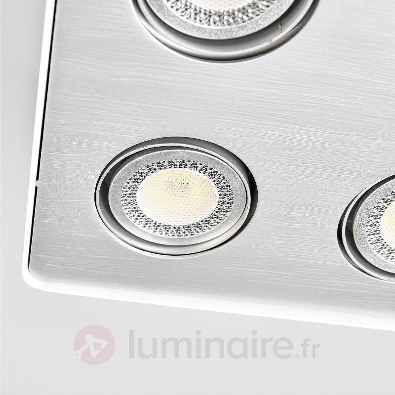 Plafonnier cuisine LED Giliano à 4 lampes, blanc - Plafonniers LED