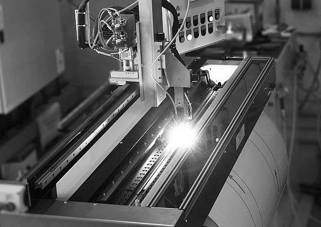 achberg production - longitudinal welding