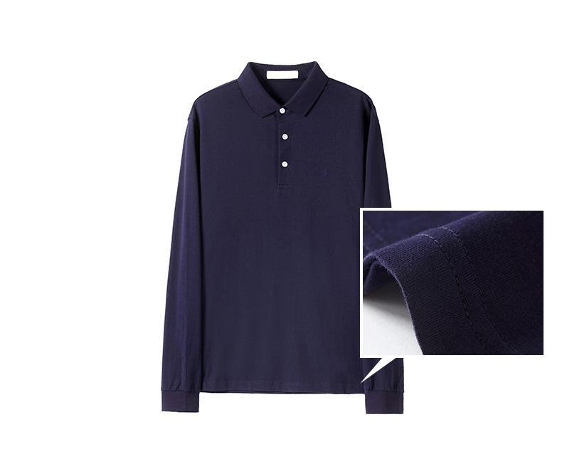 Men's long sleeve turn-down collar T-shirt