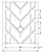 Chevron Conveyor Belts - Chevron Conveyor Belt Typ GB 850 HC