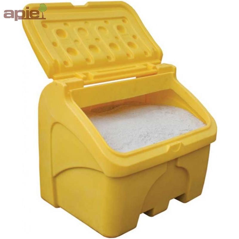 """Coffre à sel ou sable 400 L jaune - Equipements """"hiver"""""""
